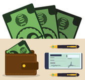 Money and Investment Stock Image