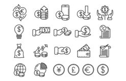 Free Money Investment Line Art Icon Royalty Free Stock Images - 165031989