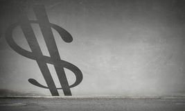 Money investment risk. Mixed media Royalty Free Stock Photography