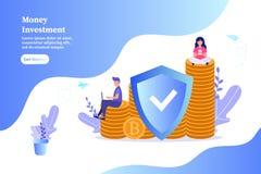 Money investment, saving money, mining, doing business, start up concept. royalty free illustration