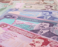 Money From Iraq Royalty Free Stock Image