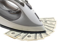 Money Ironing Stock Photo
