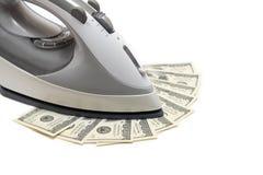 Money Ironing Stock Photo