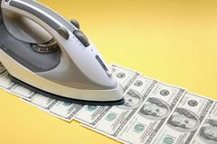 Money Ironing Royalty Free Stock Photos