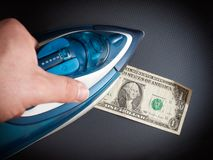 Money ironing Royalty Free Stock Image
