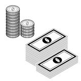 Money isolate on white vector. Image of money isolate on white vectorn Stock Photos