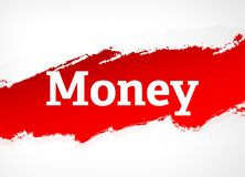 Money Red Brush Abstract Background Illustration royalty free illustration