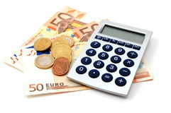 Money isolated on white Royalty Free Stock Photos