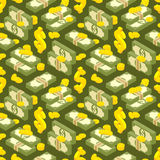 Money isometric seamless pattern Stock Photos
