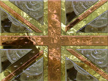 Money Jack. Union Jack made from money - pounds coins Stock Images