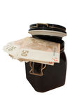 Money in jar. Stock Photo