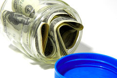 Money Jar 2. Photo of a Jar With Money Stock Photography