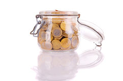 Money jar Stock Photo