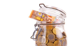 Money jar Stock Image