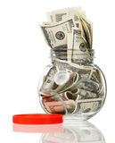 Money jar Stock Photography