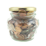 Money in jar Royalty Free Stock Photo