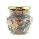 Money in jar Royalty Free Stock Photo