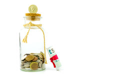 Money in a jar Royalty Free Stock Photo