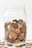 Money in a jar Royalty Free Stock Image