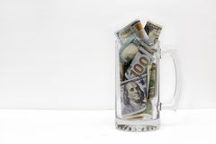 Money in a Jar. A jar full of money Stock Photo