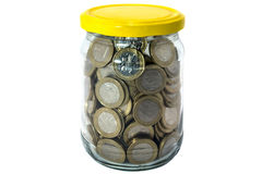 Money in the jar Stock Photo