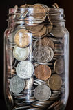 Money in jar Royalty Free Stock Images