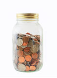 Money Jar - Isolated Royalty Free Stock Photos