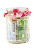 Money in the jar Stock Photography