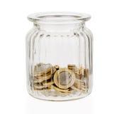 Money jar moneybox isolated on white Stock Image