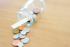 Money jar for savings Royalty Free Stock Photography