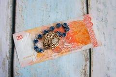 Money and jewellery. Philippine peso money and jewellery Stock Photography