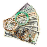 Money and Jewelry royalty free stock photos