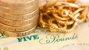Money and jewelry Stock Photo