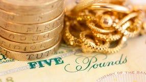 Money and jewelry Stock Photo
