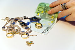 Money and jewels Royalty Free Stock Images
