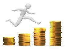 Money jump Royalty Free Stock Photos