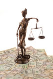 Money and justice Royalty Free Stock Images