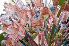 Money for Kathin Ceremony Royalty Free Stock Image