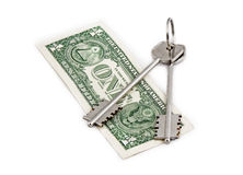 Money key bond Stock Photography