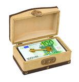 Money and key in box Royalty Free Stock Photo
