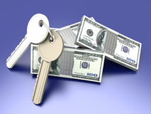 Money and Keys Royalty Free Stock Photos