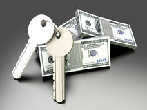 Money and Keys Stock Photo