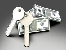 Money and Keys stock illustration