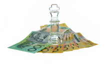 Money King. King on money royalty free stock images
