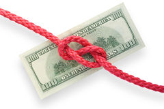 Money and knot 01 Stock Photography