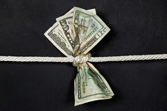 Money in knot Stock Photos