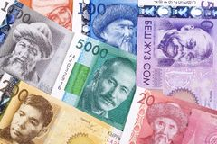 Money from Kyrgyzstan, a background. Money from Kyrgyzstan, a business background stock images