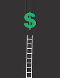 Money Ladder Royalty Free Stock Photos