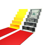 Money ladder origami Royalty Free Stock Photo