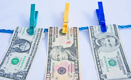 Money laundering. Royalty Free Stock Photo
